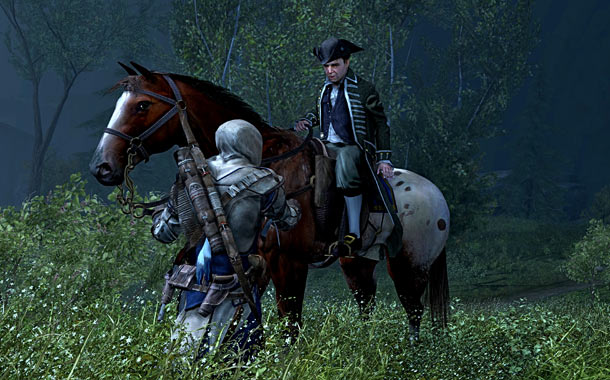 In the alternate universe of Assassin's Creed, Revere had a friend along for his ride.