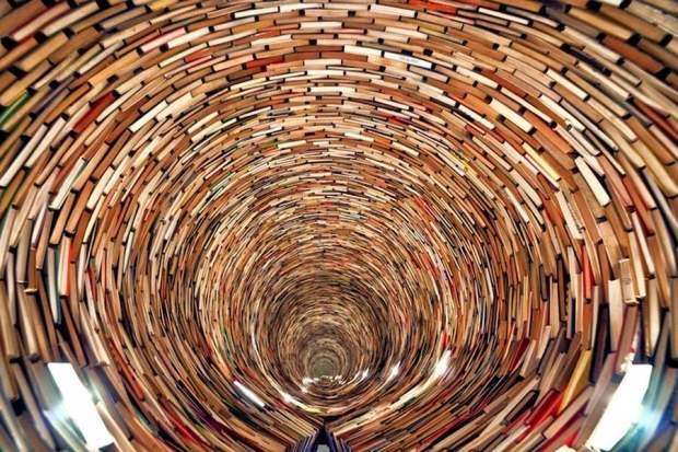 Tower of books by Matej Kren