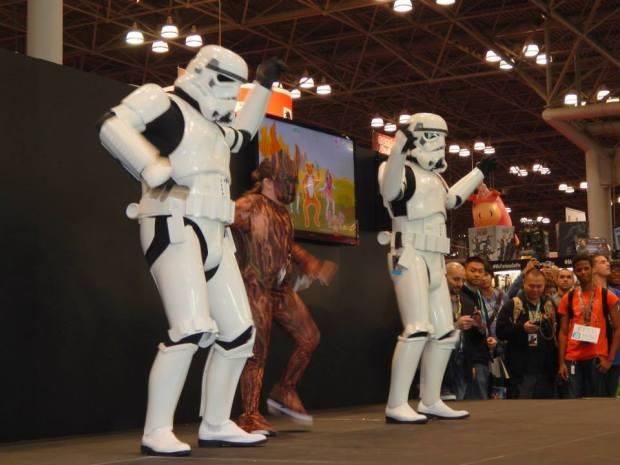 Dancing. NYCC14. Photo courtesy of Evelina Sturzeneker.