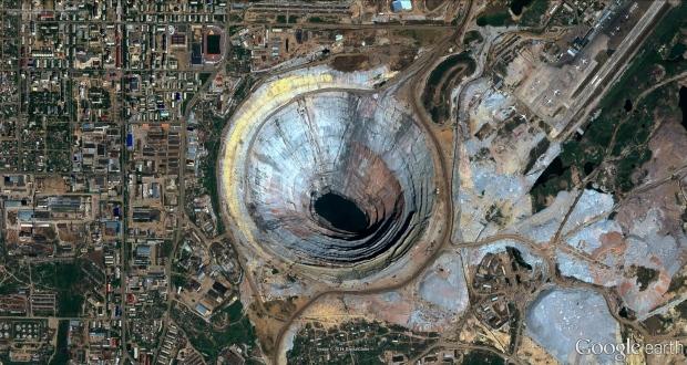 Mir Diamond Mine, Mirny, Eastern Siberia.