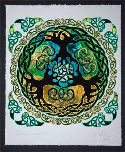 """YGGDRASIL World Tree"" by Jen Delyth, Celtic Art Studio"