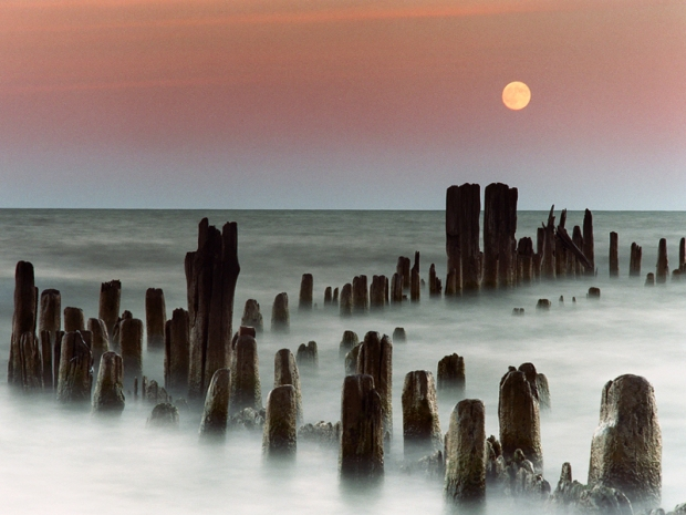 Moonrise over Evanston, Illinois by James Jordan