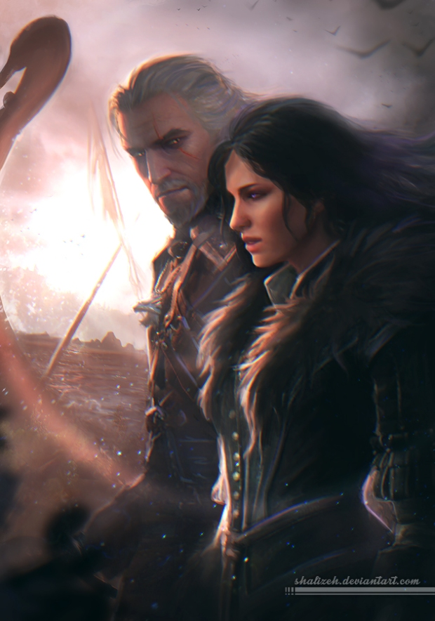 geralt_and_yennefer_by_shalizeh-d8wil5t